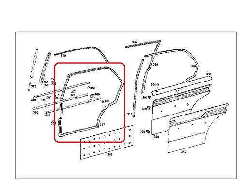 Mercedes W108 - W109  Door Seal Rear Left LWB - 109 730 05 78, 1097300578
