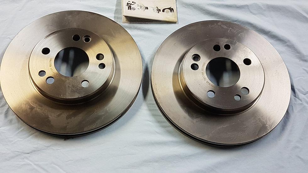 Mercedes W124 Vented Brake Rotor Set Front - 124 421 16 12, 1244211612