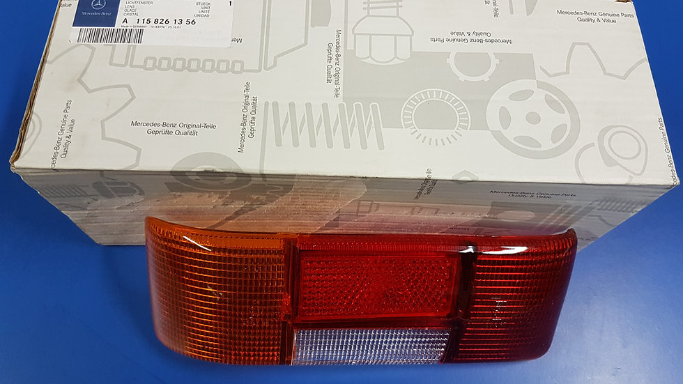 Mercedes W114-W115 Tail Light Lens Early L/H - 115 826 13 56, 1158261356