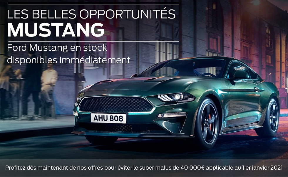 Ford Mustang Offre spéciale