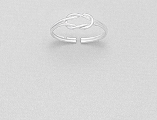 925 Sterling Silver Knot Toe Ring