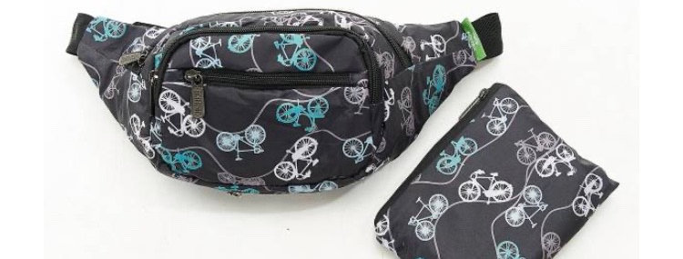 EcoChic Bum Bag - Bikes Black