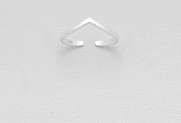 925 Sterling Silver Chevron Toe Ring