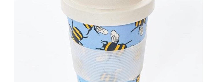 EcoChic Coffee Cup - Blue Bees