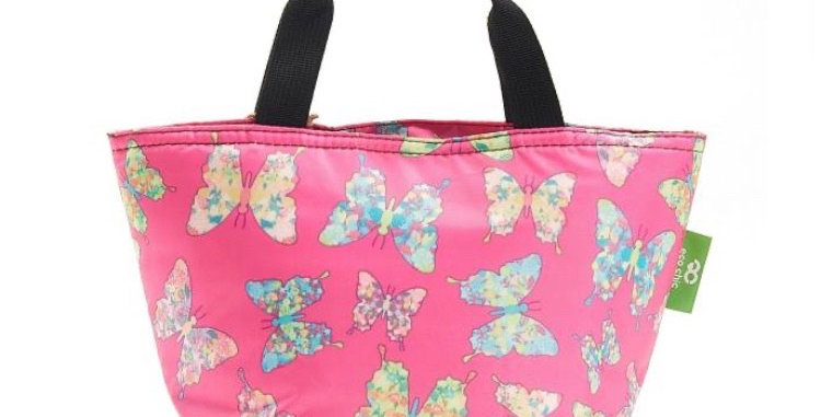 EcoChic Foldable Lunch Bag - Buttefly Pink