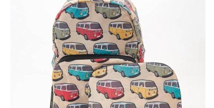 EcoChic Mini Backpack - Camper Van Beige