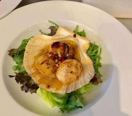 Scallops at Tanglewood