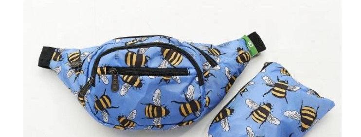 EcoChic Bum Bag - Bees Blue