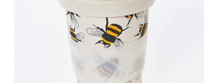 EcoChic Coffee Cup - Cream Bees