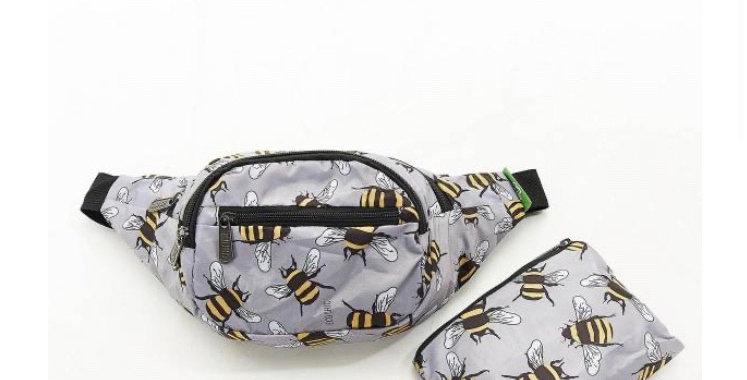 EcoChic Bum Bag - Bees Grey