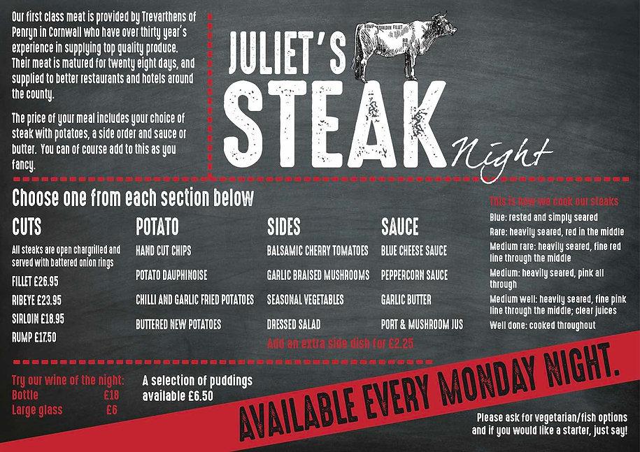 Steak Night Juliets Garden Restuarant.jp