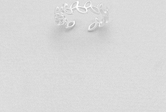 925 Sterling Silver Leaf Toe Ring
