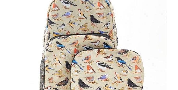 EcoChic Mini Backpack - Birds