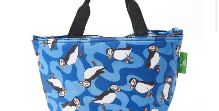 EcoChic Foldable Lunch Bag - Puffin Royal