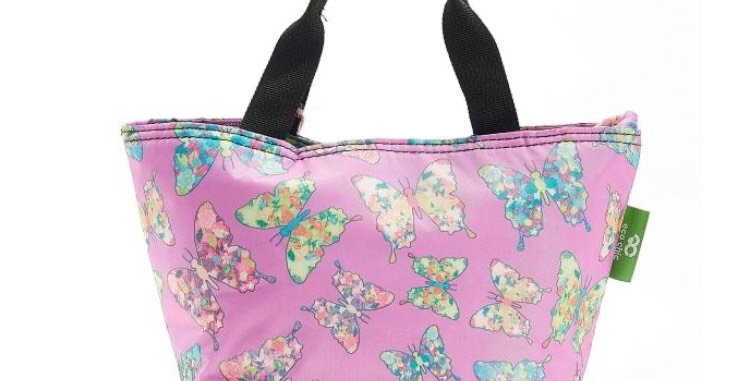 EcoChic Foldable Lunch Bag - Butterfly Purple