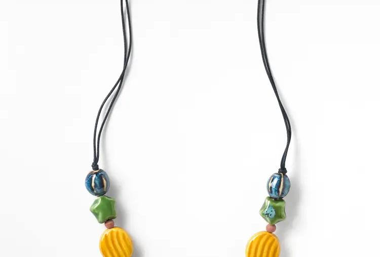 Mixed Shape Ceramic Necklace