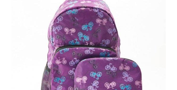 EcoChic Mini Backpack - Bikes Purple