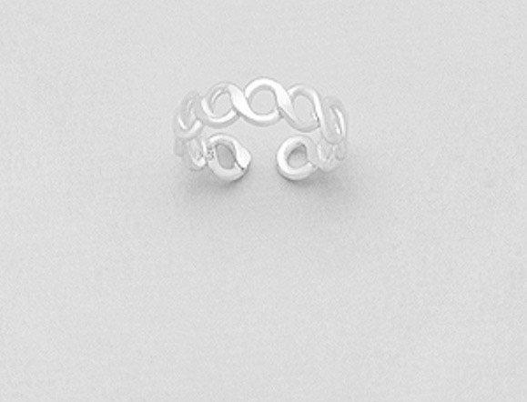 925 Sterling Silver Infinity Toe Ring