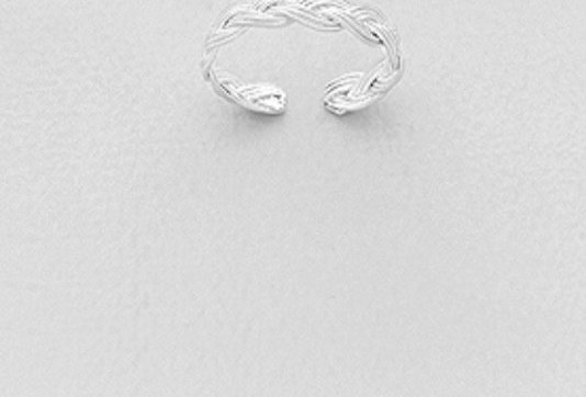 925 Sterling Silver Weave Toe Ring