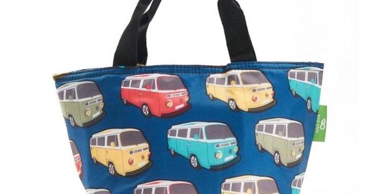 EcoChic Foldable Lunch Bag - Camper Van Blue