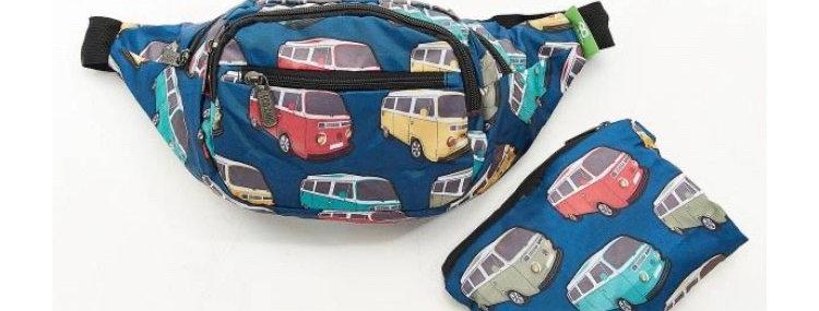 EcoChic Bum Bag - Camper Van Blue