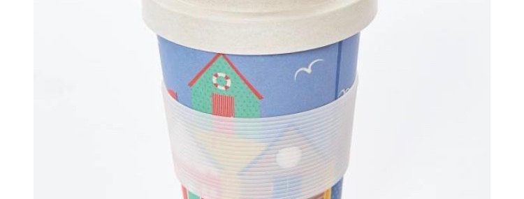 EcoChic Coffee Cup - Beach Huts