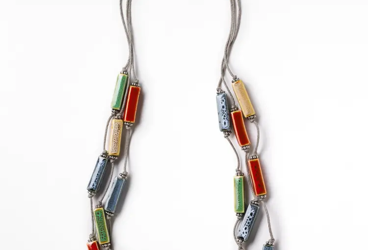 Multi Lagoon Ceramic Necklace