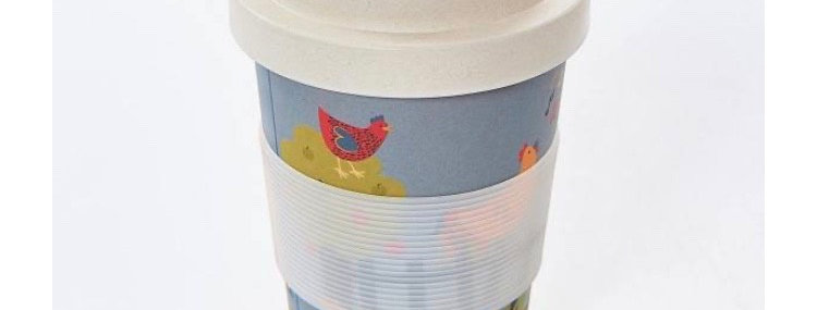 EcoChic Coffee Cup - Chickens
