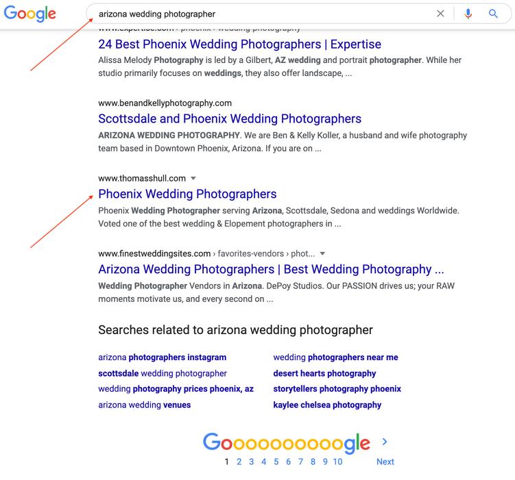 Arizona Wedding Photographer Results