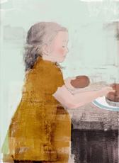 女の子とドーナツ