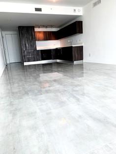 Porcelain tile floor