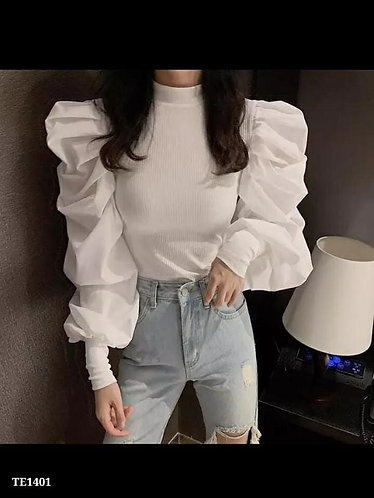 Ruffle sleeves top