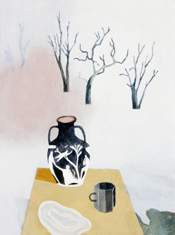 Still Life with Three Trees, Two