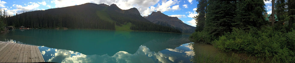 Emerald Lake Alberta Banff Canada Dock Mountains