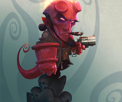 HELLBOY in  ImagineFX
