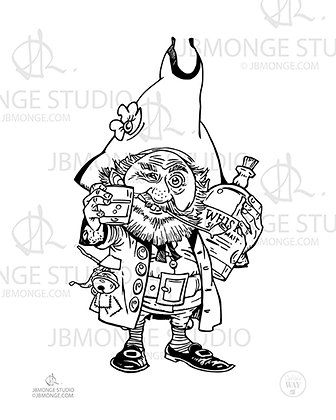 Colouring Picture - CHEERS WITH THE GOBLIN