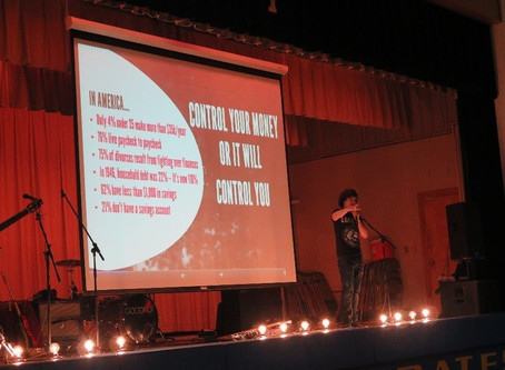 Rock band drives financial literacy message to students