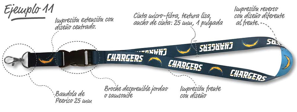Bandola sencilla Mod.4016, reverso color solido, cinta acanalada