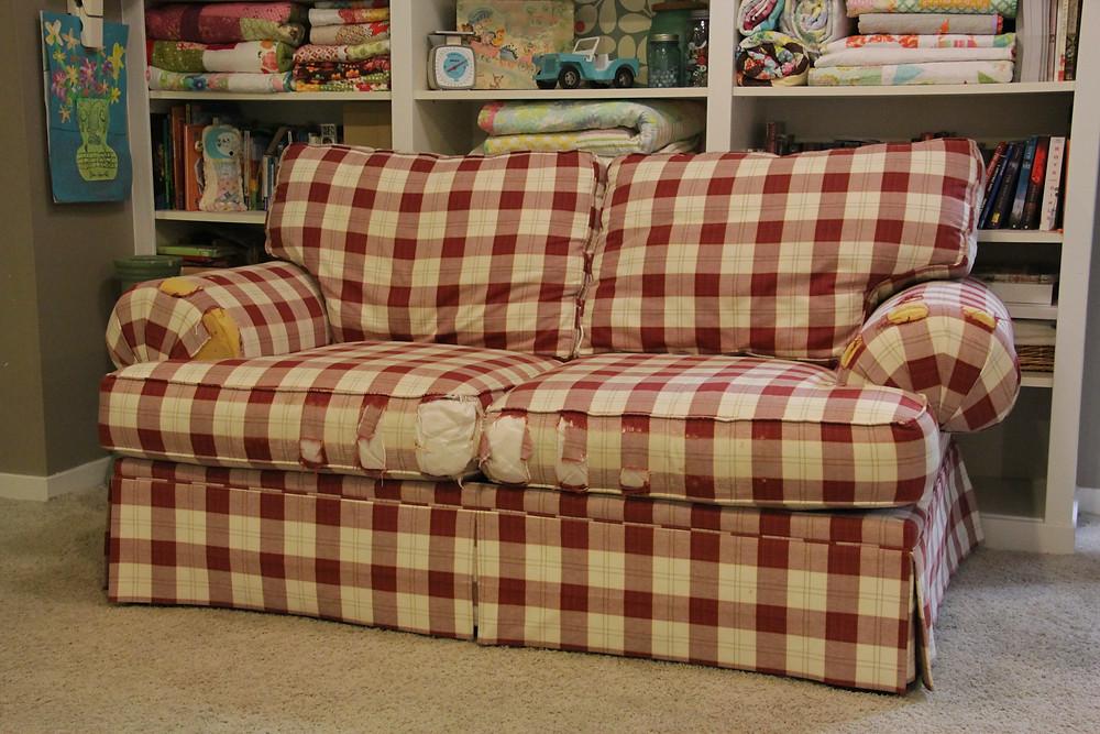 the sofa before