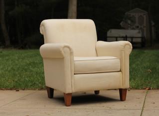 Denim Blue Slipcovered Chair