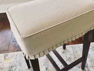 Pleated Barstool Slipcovers