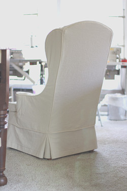 Wingback chair slipcover - back
