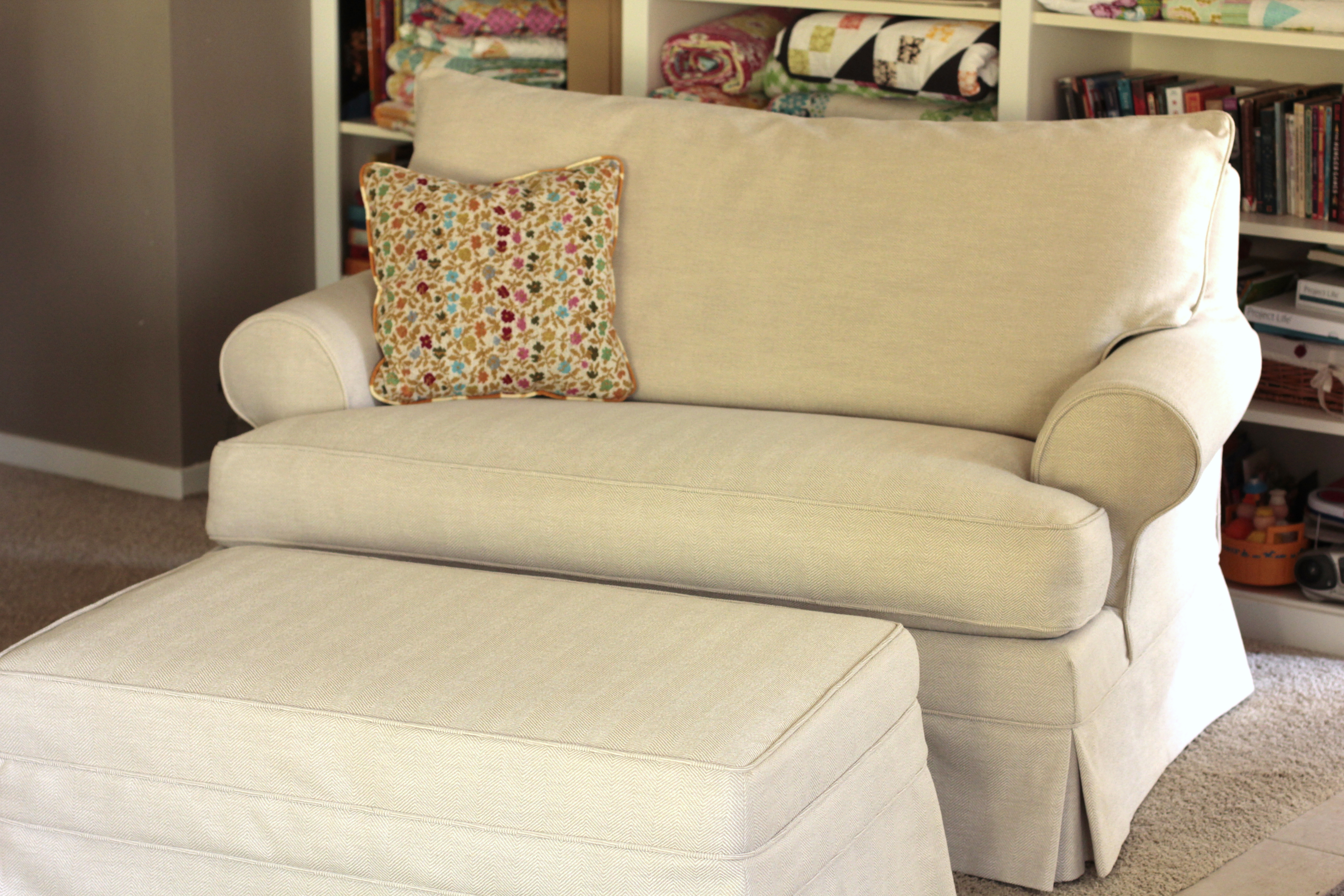 Loveseat Slipcover -after