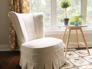 Drop cloth Slipper Chair