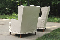 Slipcovered Wingback Chairs - back