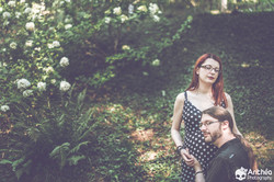Photographe grossesse couple rock
