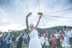 Mariage Pilat Champetre bouquet jeu