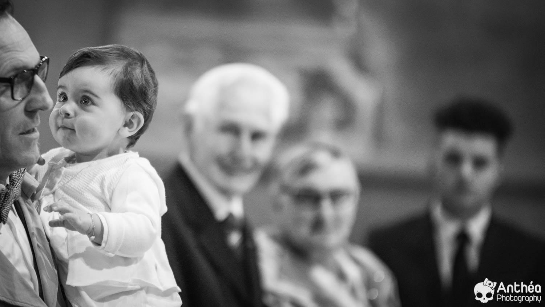 Baptême photo papa et bébé