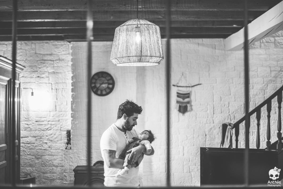 séance photo papa et bébé