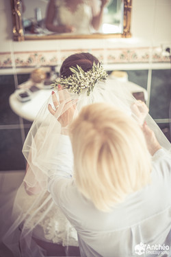 préparatifs de mariée